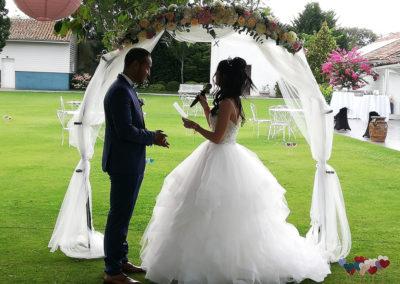 echange de voeux mariage arche de cérémonie