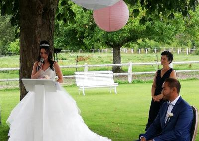 Discours mariée par Mademoiselle Loyal