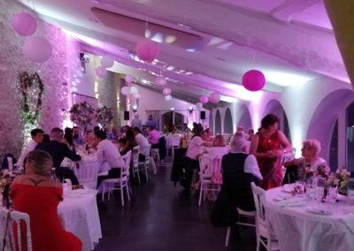 reception de mariage au domaine de Larchey