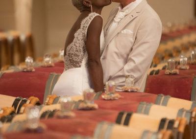 mariés dans le chai