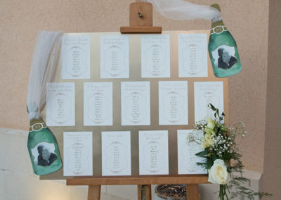 plan de table mariage champagne