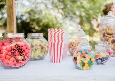 Bar à bonbons pour mariage cirque