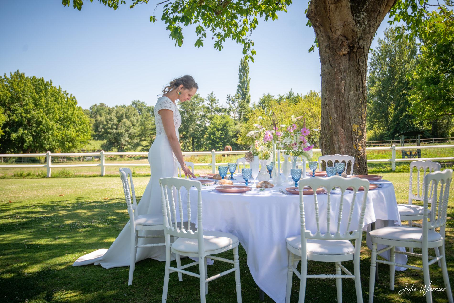 table de mariage au domaine de larchey
