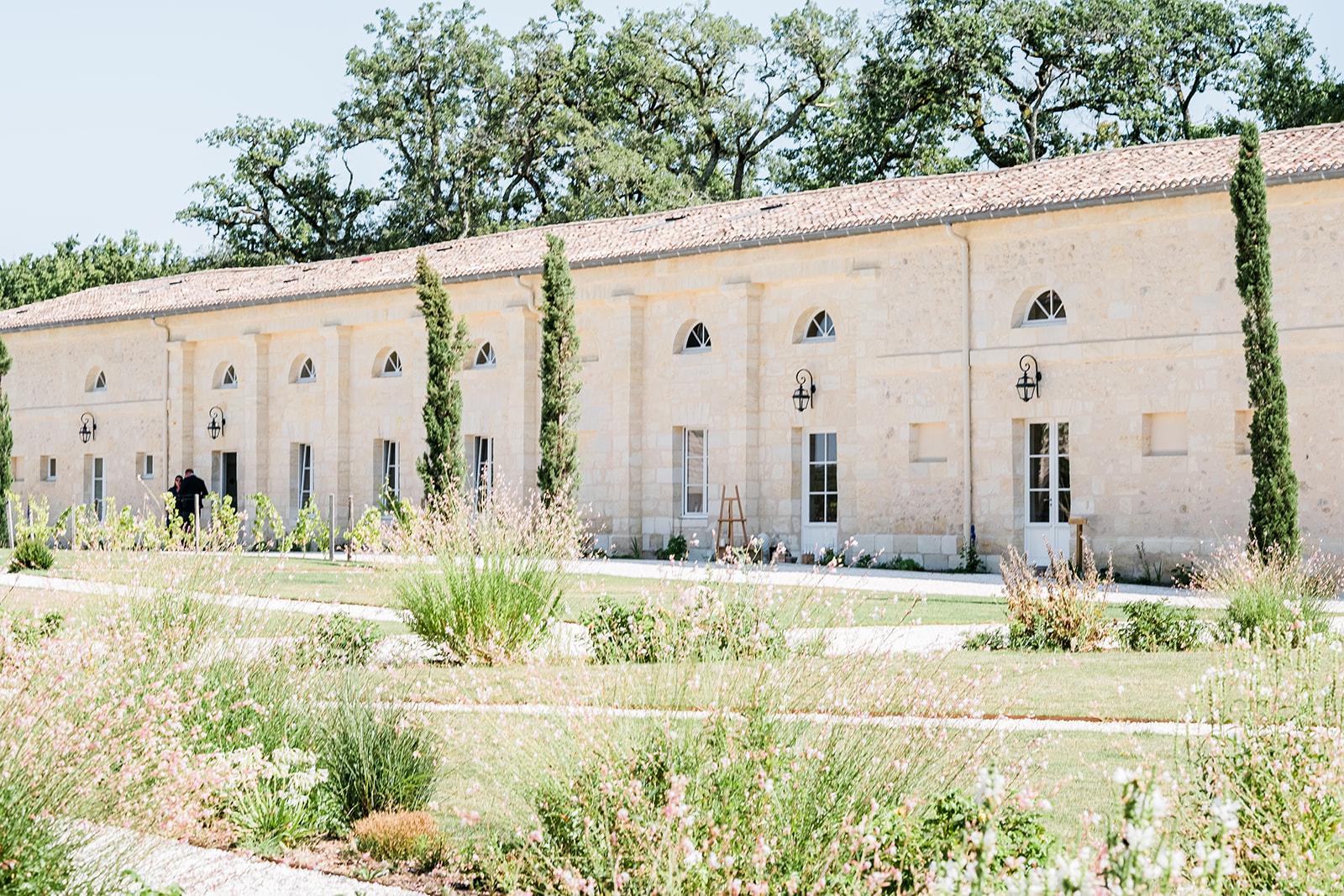 Salle de réception du château Gassies à Bordeaux