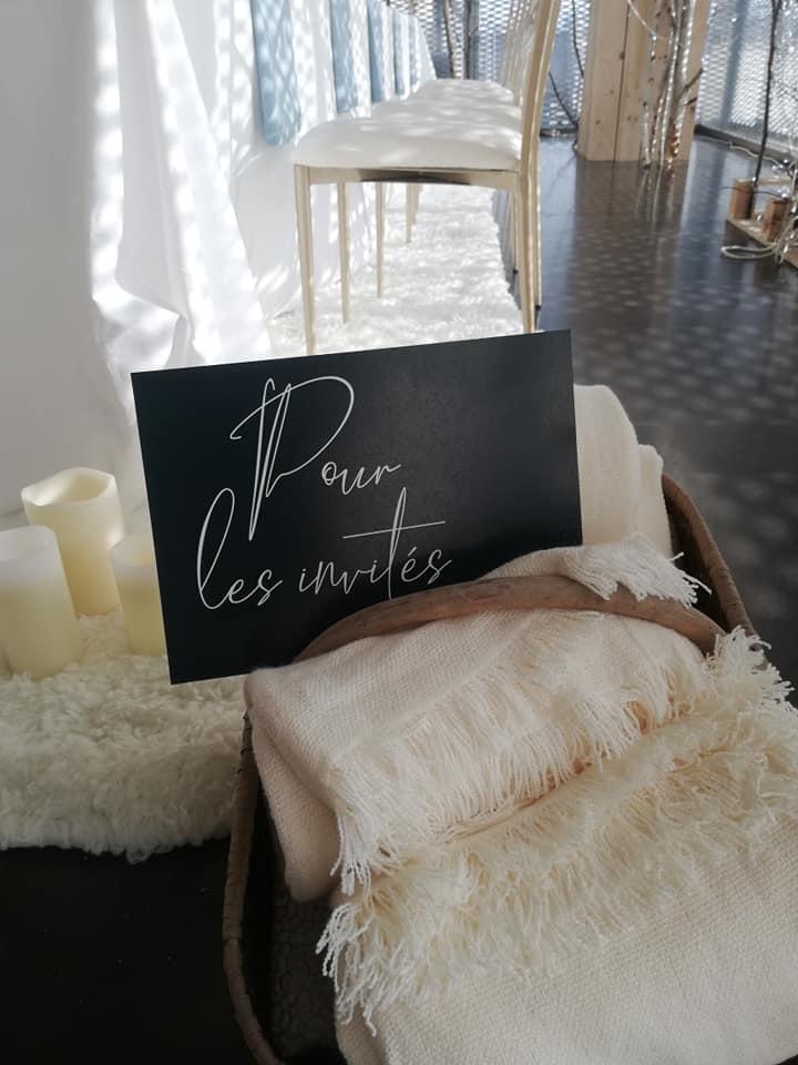 plaids invités mariage