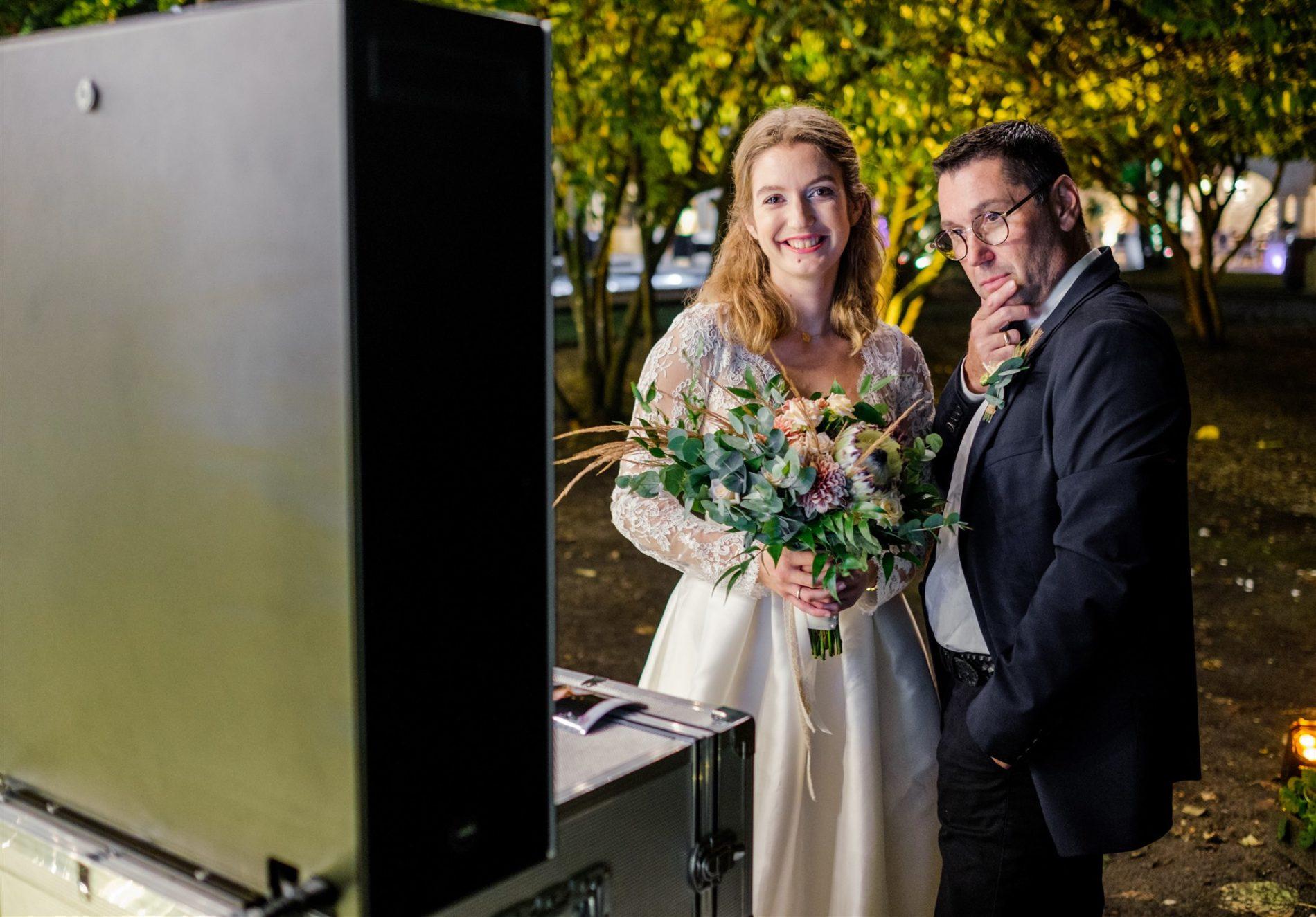 borne photo soir de mariage