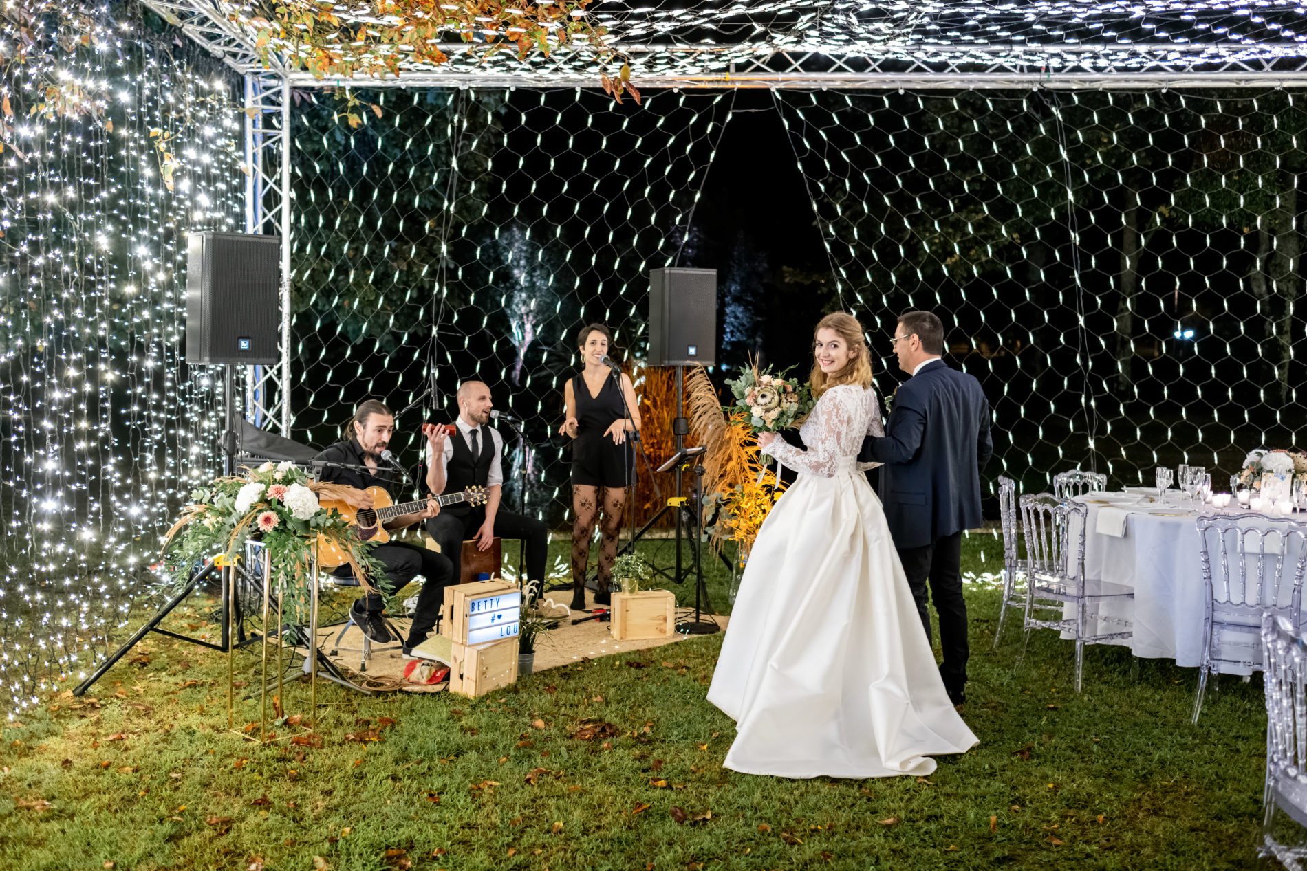 mariage avec groupe de musique live