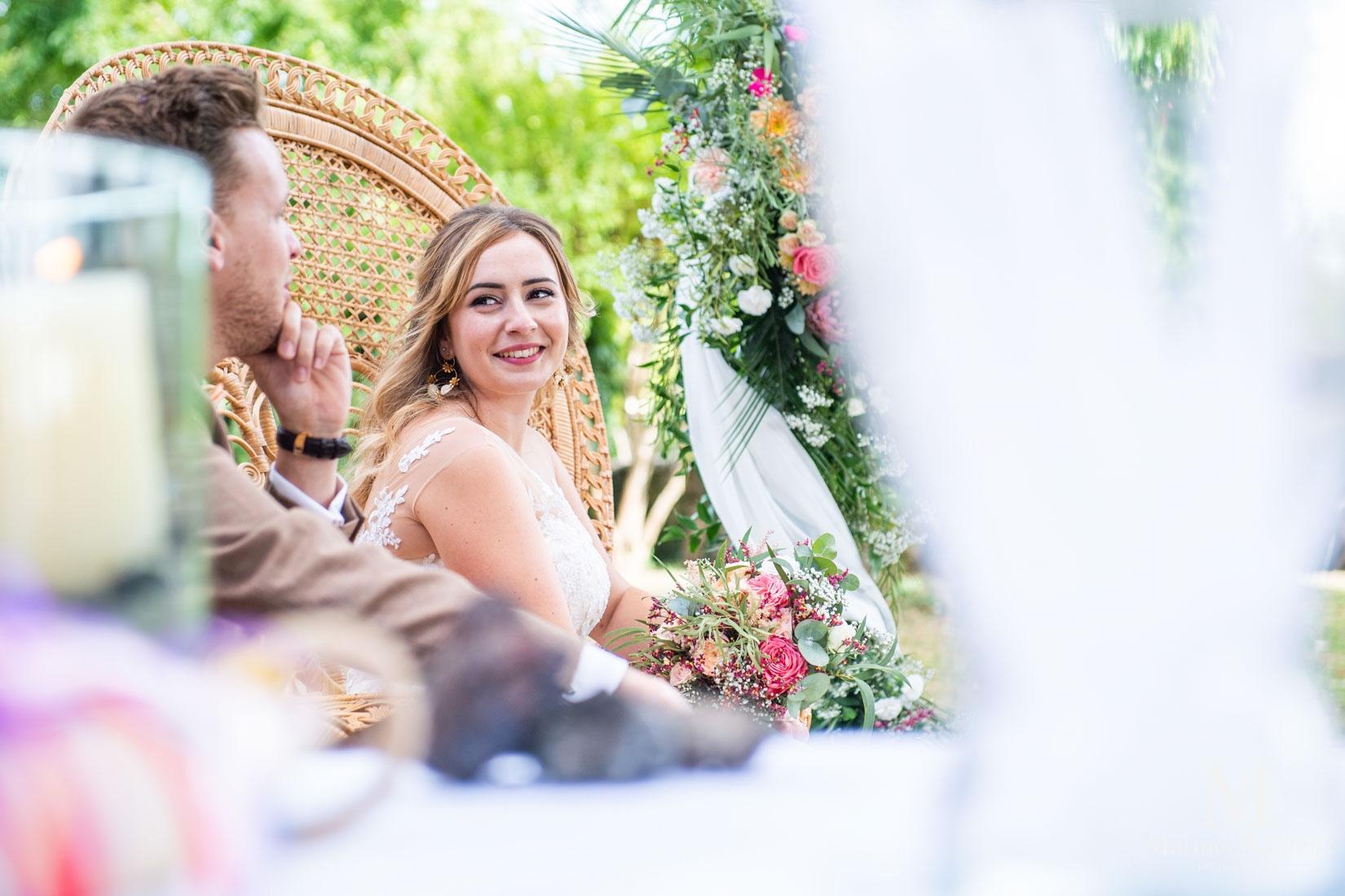 mariée lors cérémonie