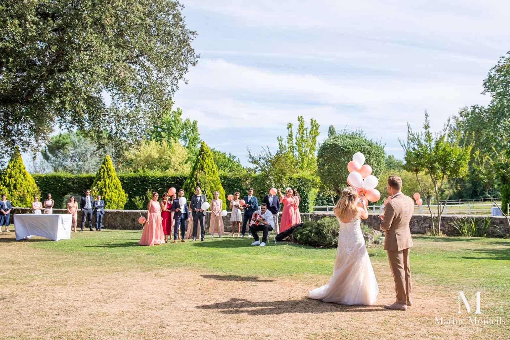 rituel ballons et voeux mariage