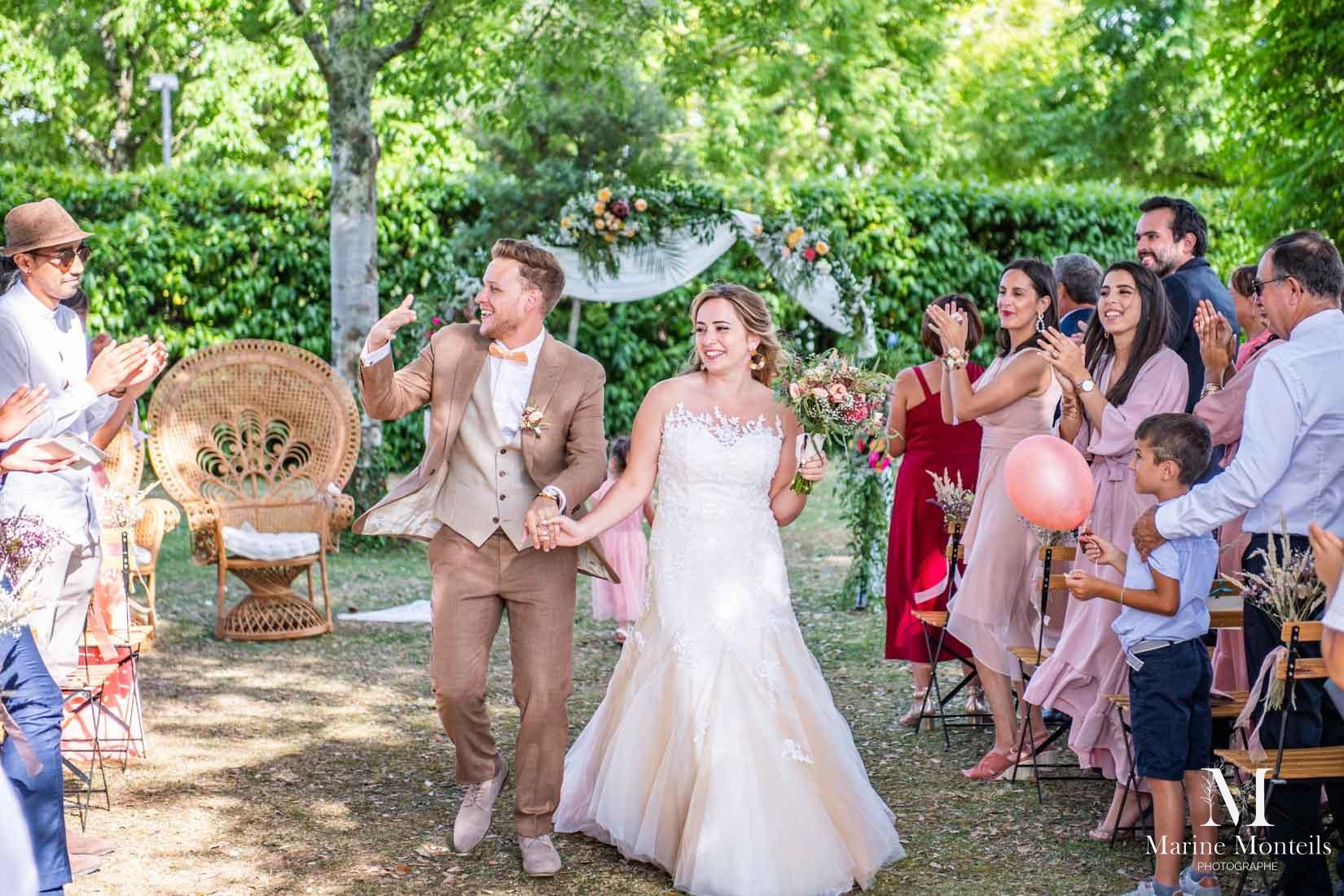 sortie de cérémonie de mariage bordeaux