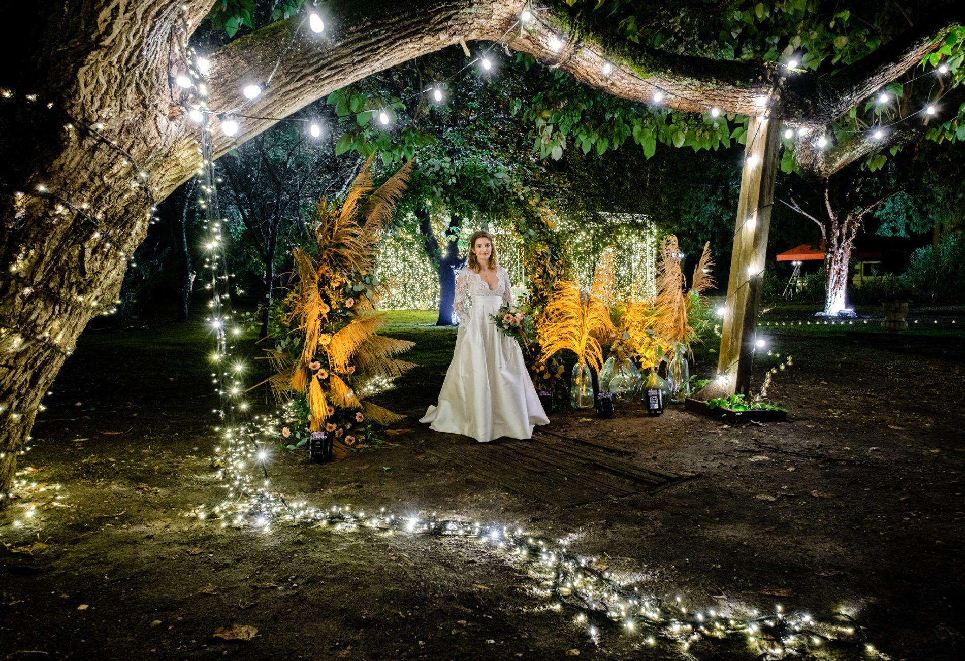arche cérémonie lumières bougies