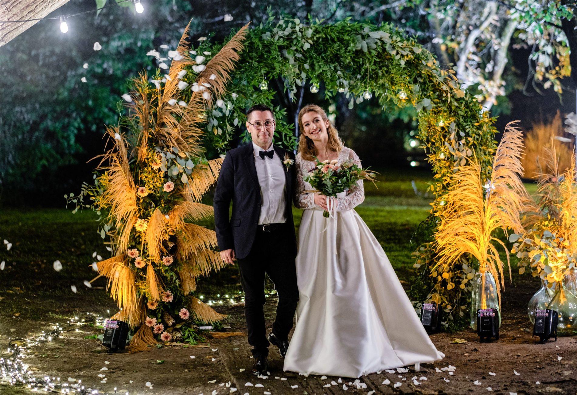 mariée et son papa cérémonie