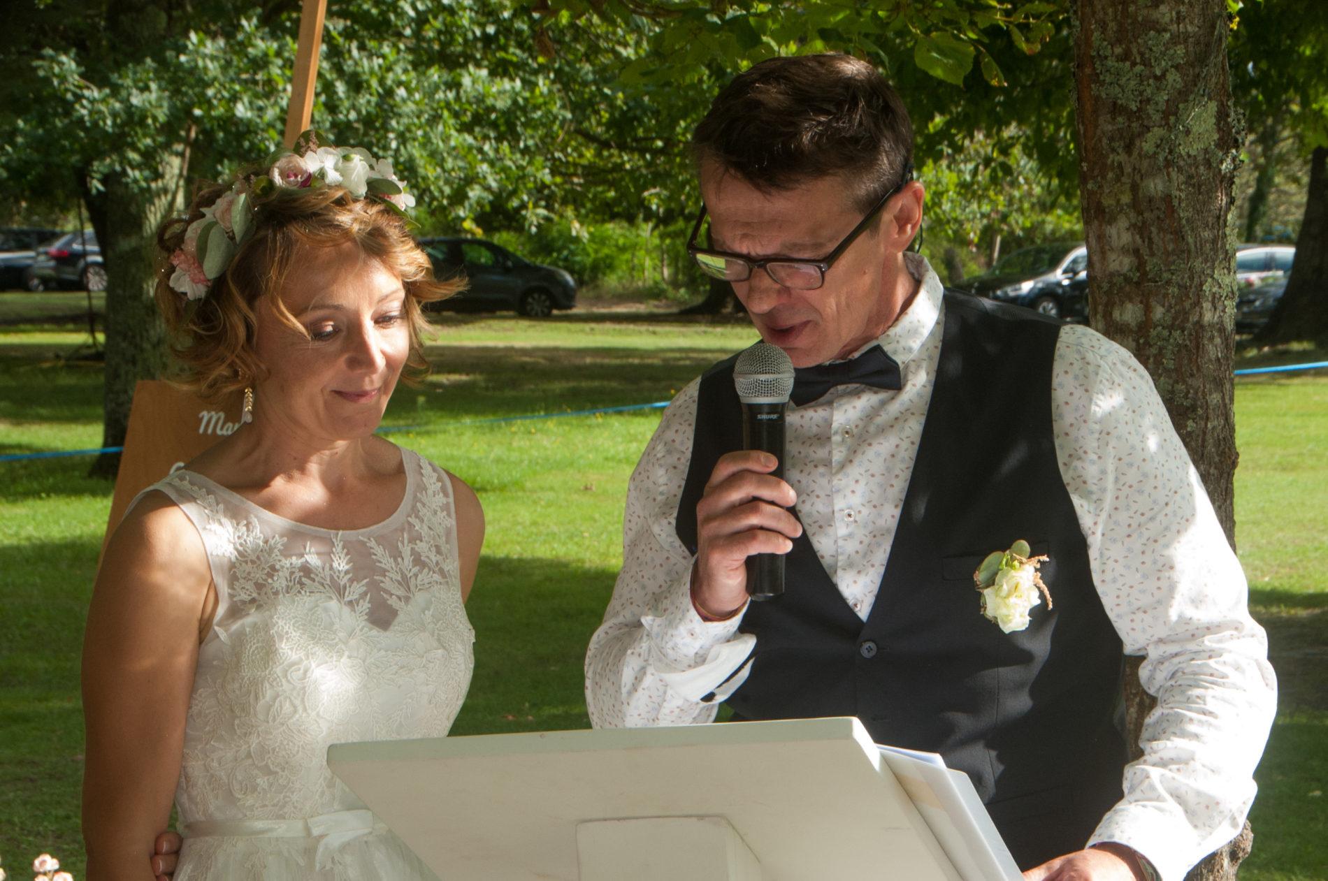 discours de mariés lors de la cérémonie