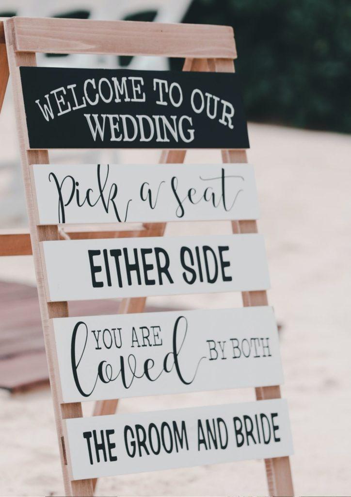 panneau bienvenue mariage