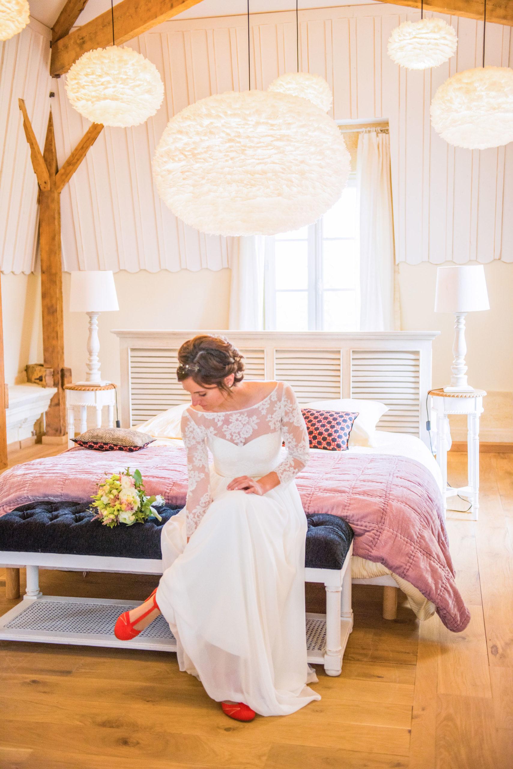 préparatifs mariés par Marine Monteils château de Garde