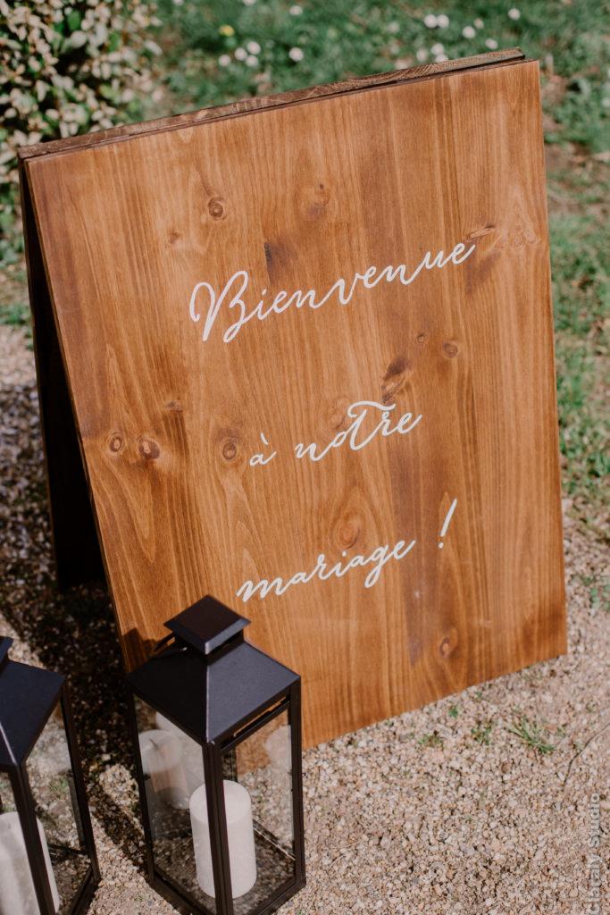 panneau de bienvenue au mariage